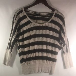 Black and Tan striped blouse